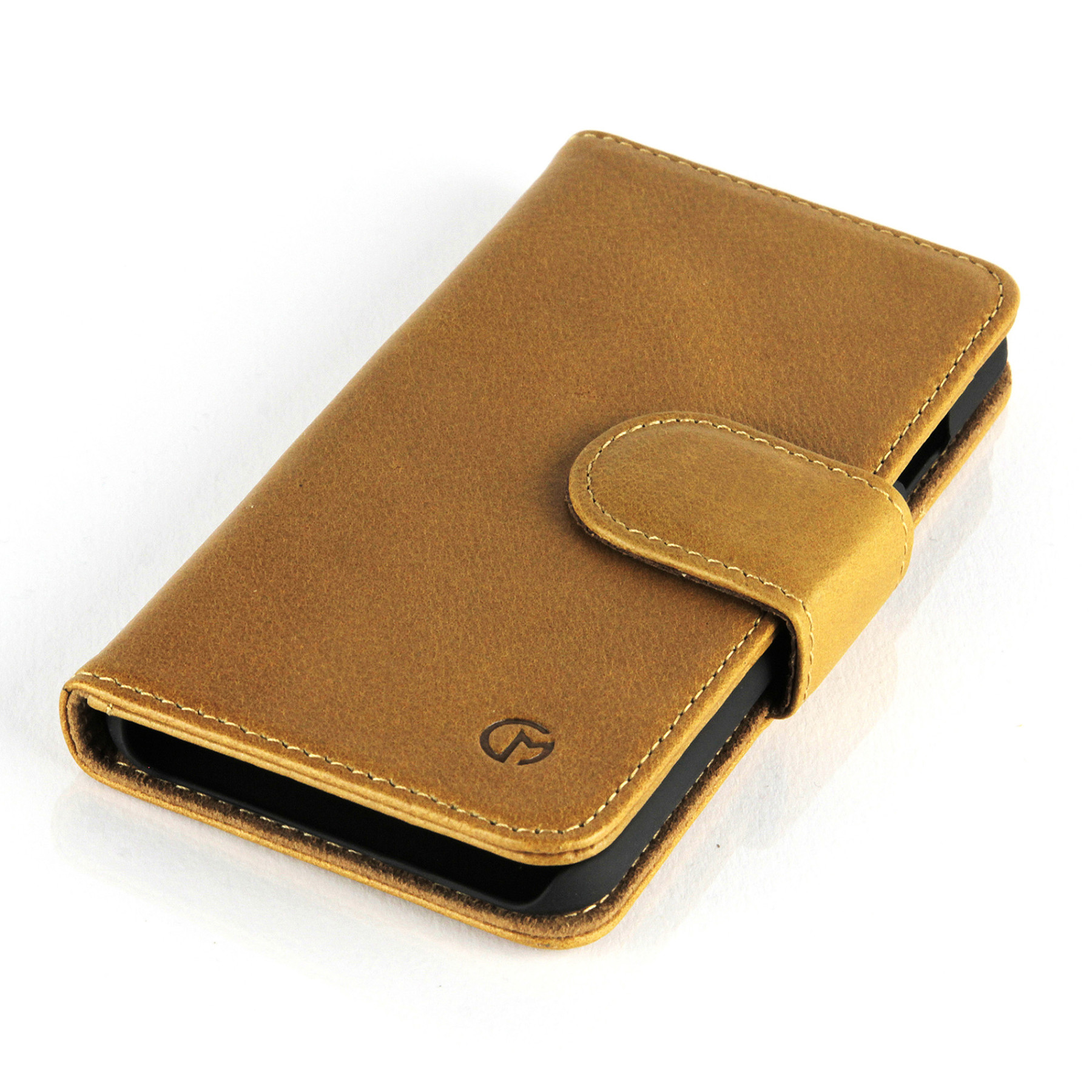 Apple iPhone 6 Plus Leather Wallet Case | Tan | Casemade USA