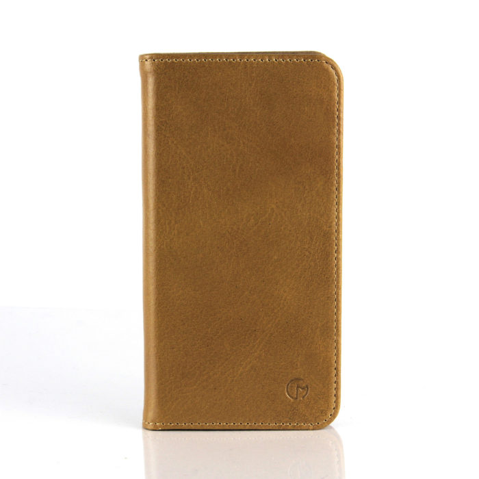 Samsung S6 Edge Leather Wallet Case | Tan