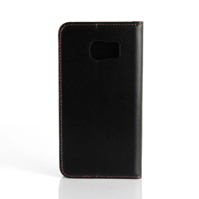 Samsung S6 Edge Leather Wallet Case | Black