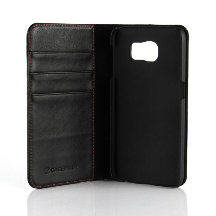 Samsung Galaxy S6 Leather Wallet Case | Black