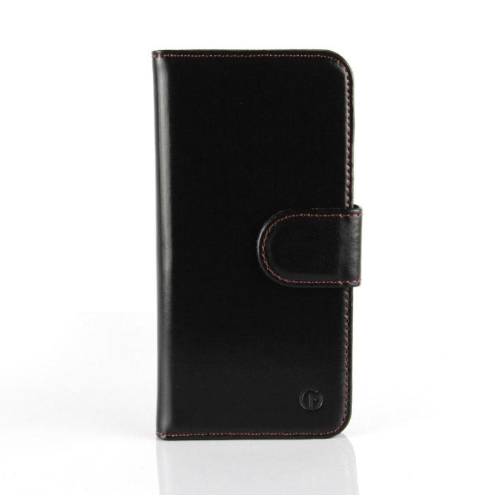 HTC One M9 Leather Wallet Case | Black