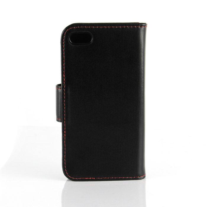 Apple iPhone 5C Slimline Leather Wallet Case | Black