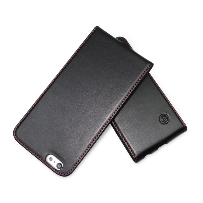 Apple iPhone 6 Plus Leather Flip Case | Black