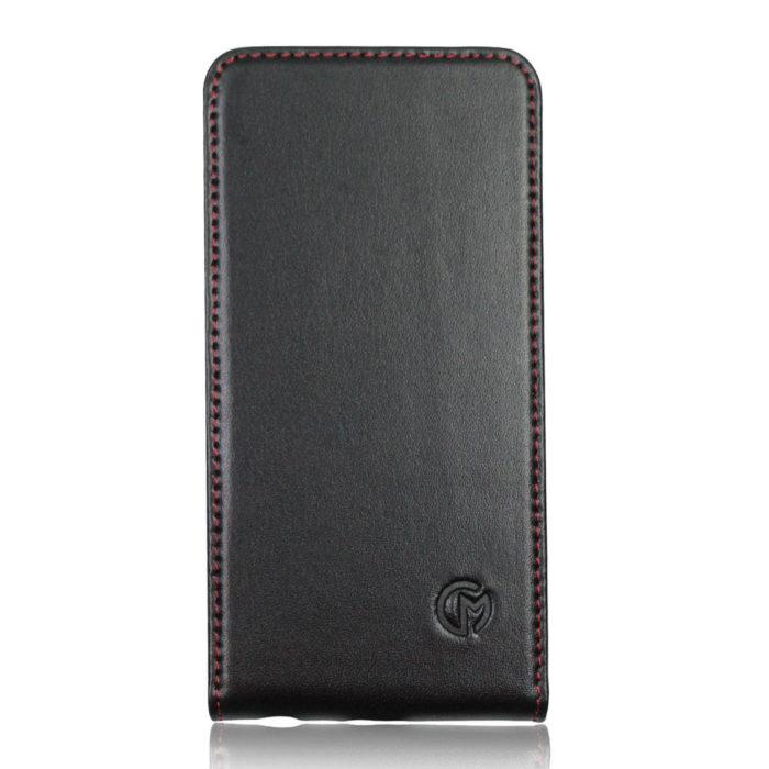 Apple iPhone 6S Plus Leather Flip Case   Black