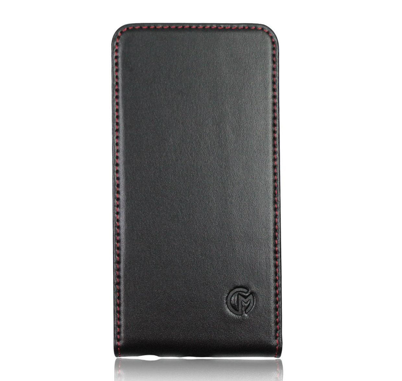 apple iphone 6s plus leather flip case black casemade usa. Black Bedroom Furniture Sets. Home Design Ideas
