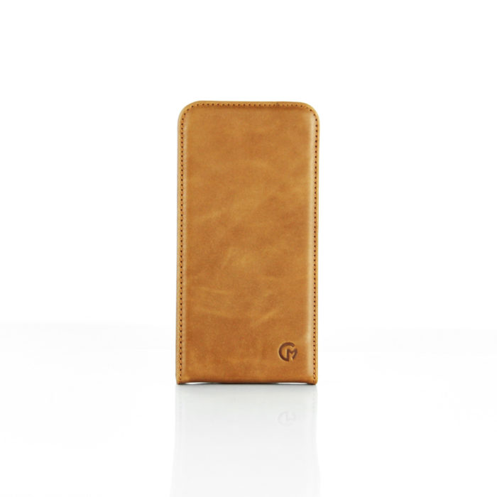 Samsung Galaxy S7 Edge Leather Flip Case | Tan