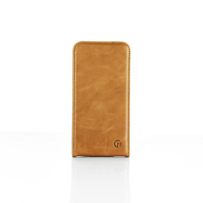 Samsung Galaxy S7 Edge Leather Flip Case | Tan