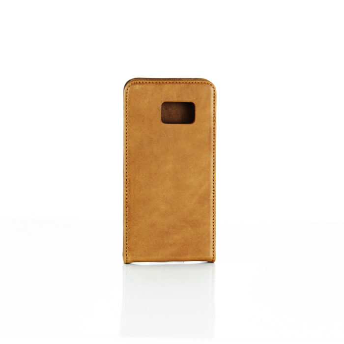 Samsung Galaxy S7 Leather Flip Case | Tan