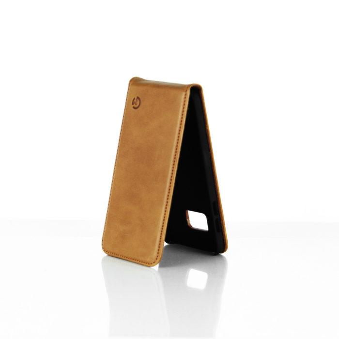 Samsung Galaxy S7 Leather Flip Case | Tan