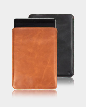 iPad 10.2 Leather Sleeve Tan and Black
