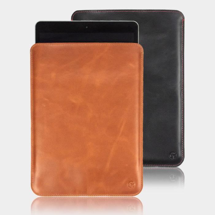 iPad 10.2 Leather Sleeve Tan and Black